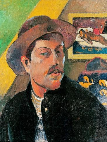 Self Portrait in a Hat, 1893-94 Giclee Print