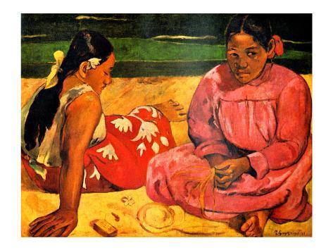 Tahitian Women on the Beach Giclee Print