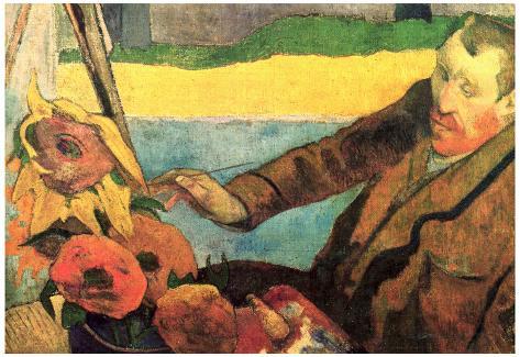 Paul Gauguin Vincent Van Gogh Painting Sunflowers Art Print Poster