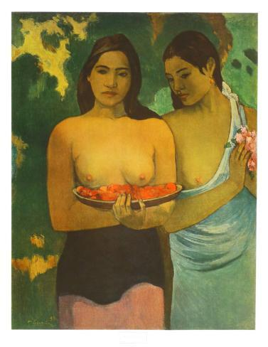 Women with Mangoes Collectable Print
