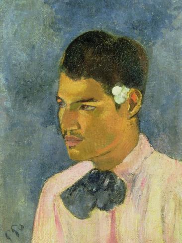 Young Man with a Flower Behind His Ear, 1891 Lámina giclée