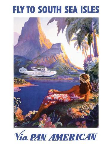 Fly to the South Seas Isles, via Pan American Airways, c.1940s Giclee Print