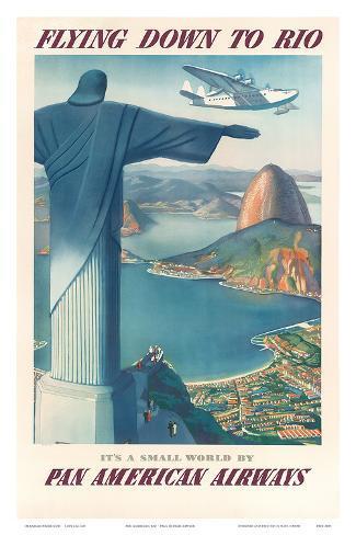 Pan American: Flying Down to Rio, c.1930s Art Print