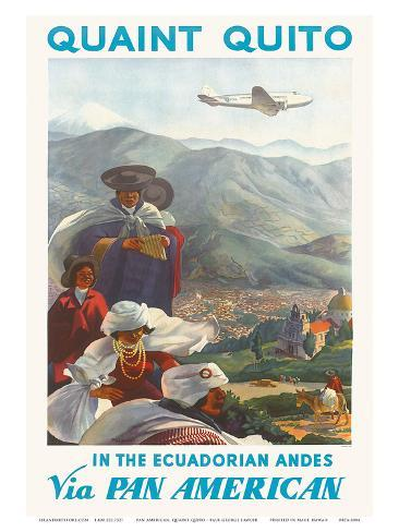 Pan American: Quaint Quito - In the Ecuadorian Andes, c.1938 Art Print