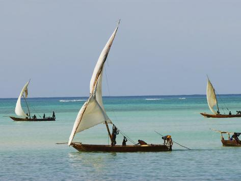 East Africa, Tanzania, Zanzibar, A Traditional Dhow, India, and East Africa Photographic Print