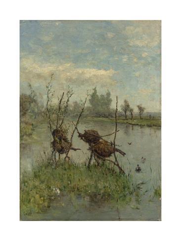 Ducks Nests Art Print