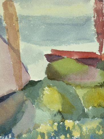 The Seaside in the Rain; See Ufer Bei Regen Giclee Print