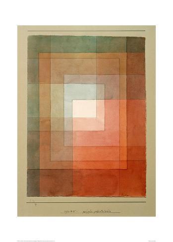 White Framed Polyphonically Lámina giclée por Paul Klee en AllPosters.es