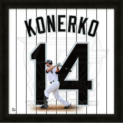 Paul Konerko, White Soxrepresentation of the player's jersey Framed Memorabilia