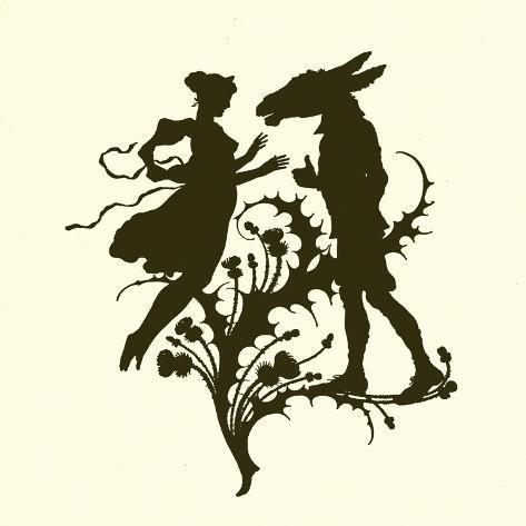 A Midsummer Night's Dream, Silhouette Giclee Print