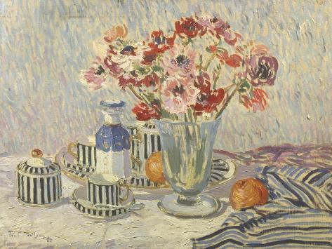 Still Life with Anemones Giclee Print