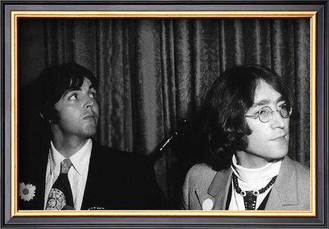 Paul McCartney and John Lennon Framed Art Print