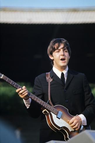 Paul Mccartney Playing Bass And Singing