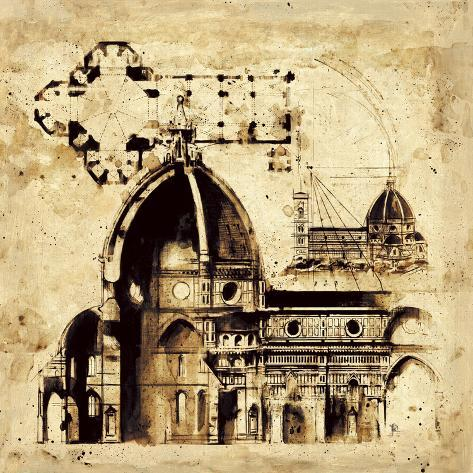 Architectorum I Stretched Canvas Print
