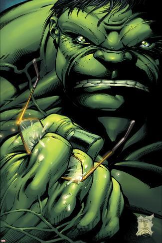 Incredible Hulks No.635 Cover: Hulk Crushing Glasses Poster