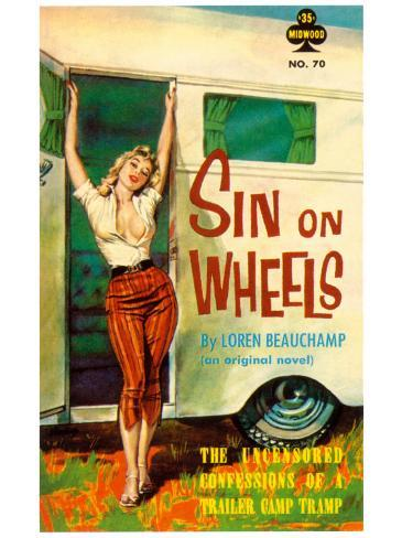Sin On Wheels Art Print