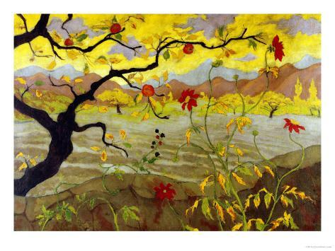 Apple Tree with Red Fruit, c.1902 Giclee Print