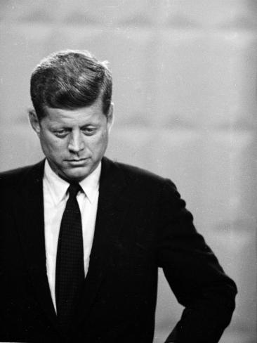 Democratic Presidential Candidate John F. Kennedy During Famed Kennedy Nixon Televised Debate Photographic Print