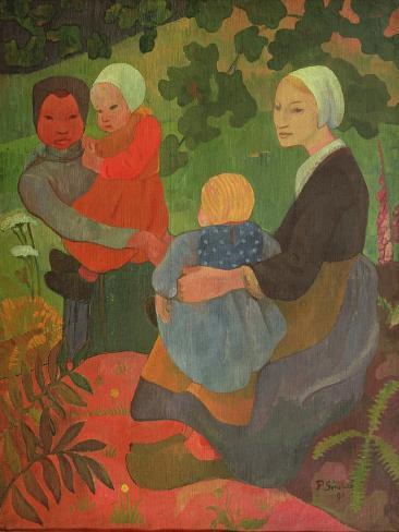 The Young Mothers, 1891 Lámina giclée