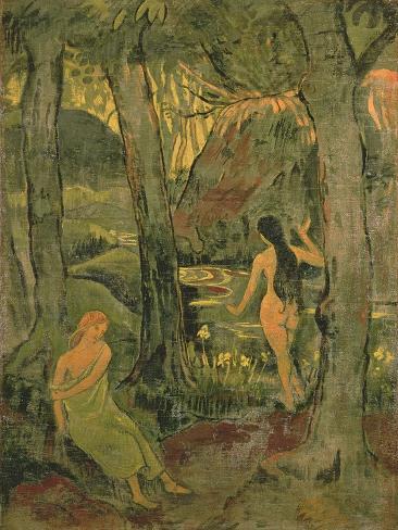 Young Women Bathing, 1892 Lámina giclée