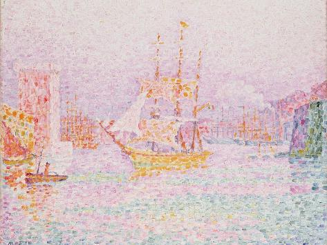 The Harbour at Marseilles Giclee Print