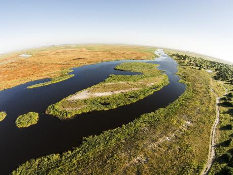 Aerial View of Okavango Delta, Chobe National Park, Botswana Photographic Print