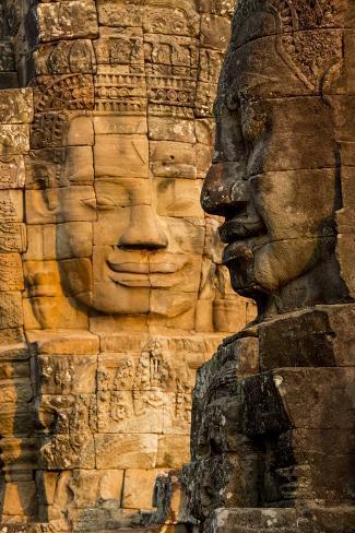 Bayon Temple, Angkor Wat, Siem Reap, Cambodia Photographic Print