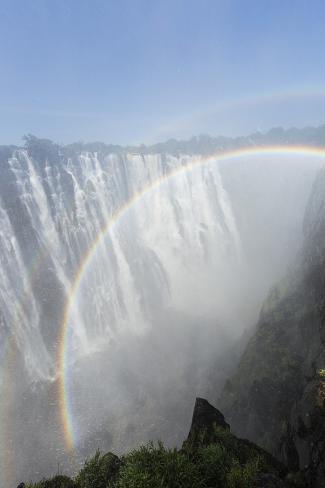 Rainbow above Victoria Falls, Mosi-Oa-Tunya National Park, Zambia Photographic Print
