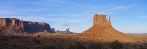 Sunset over Sandstone Bluffs in Monument Valley Navajo Tribal Park, Grand Canyon Np, Arizona, USA Photographic Print