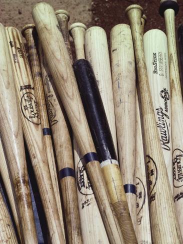 Baseball Bats Photographic Print