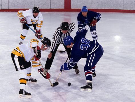 Ice Hockey Face Off, Torronto, Ontario, Canada Photographic Print