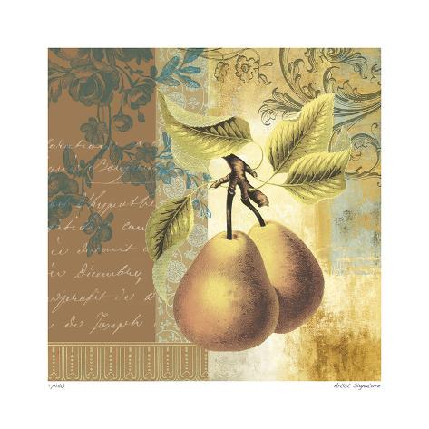 Golden Pears Giclée-vedos