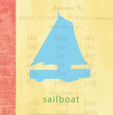 Vintage Toys Sailboat Art Print