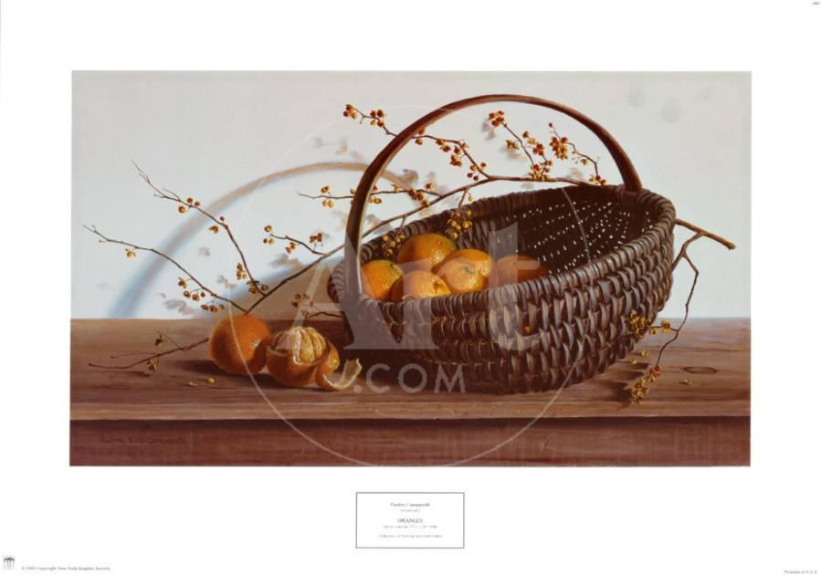 Oranges Print by Pauline Eblé Campanelli - AllPosters.ca