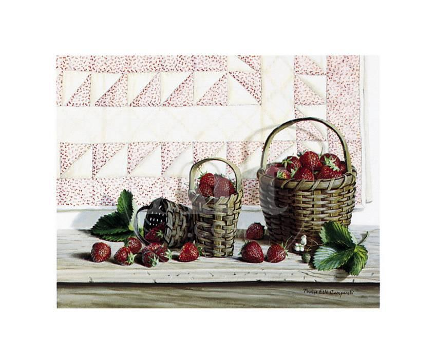 Strawberry Time Prints by Pauline Eblé Campanelli at AllPosters.com