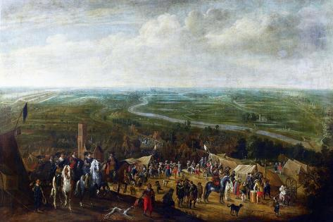 Prince Frederick Henry at the Siege of Hertogenbosch Art Print