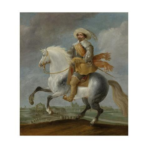 Prince Frederick Henry on Horseback in Front of Hertogenbosch Fortress Premium Giclee Print