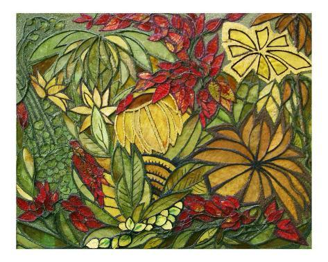 Leaves Fantasy World Stretched Canvas Print
