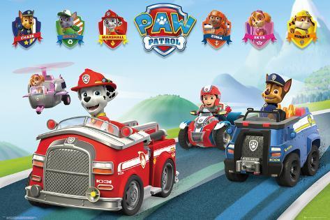 Paw Patrol- Vehicles Poster
