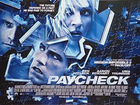 Paycheck Póster original