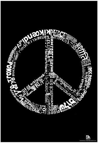 Peace 77 Languages Text Poster Poster