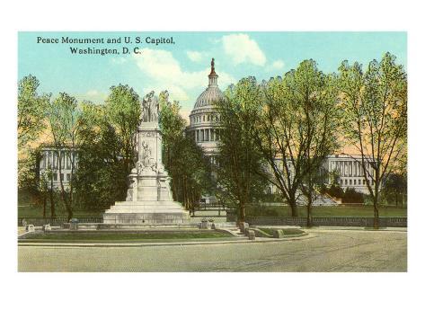 Peace Monument, Capitol, Washington D.C. Art Print
