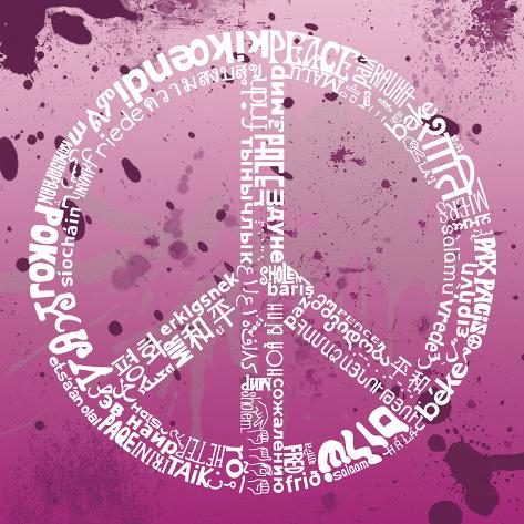 Peace (pink) Art Print