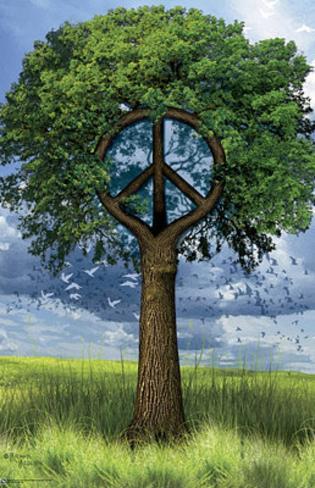 Peace Tree Art Print Poster Poster