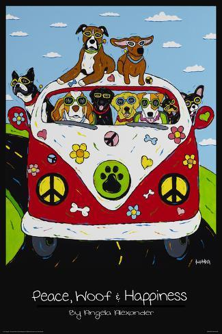 Peace, Woof and Hapiness Póster