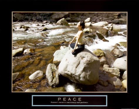 Peace: Yoga Art Print