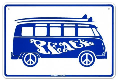Peace Tin Sign