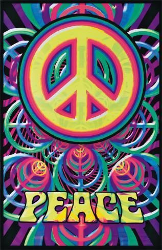 Peace Blacklight Poster