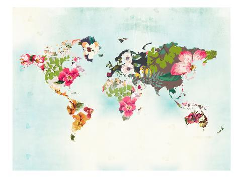 World map 1 poster by peach gold at allposters world map 1 gumiabroncs Choice Image