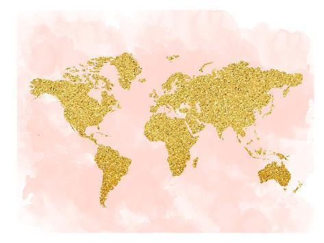 World map 4 lmina por peach gold en allposters world map 4 lmina gumiabroncs Gallery